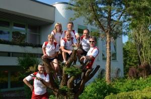 TSV Hollstadt am Start - man sieht, wir wollen hoch hinaus!